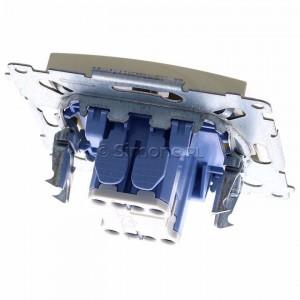 Simon 54 DW1L.01/41 - Łącznik pojedynczy z podświetleniem typu LED w kolorze niebieskim 10A - Kremowy - Podgląd zdjęcia 360st. nr 4