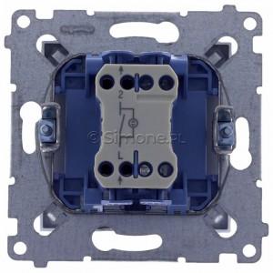 Simon 54 DW1L.01/43 - Łącznik pojedynczy z podświetleniem typu LED w kolorze niebieskim 10A - Srebrny Mat - Podgląd zdjęcia 360st. nr 9