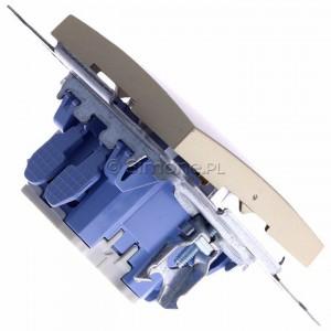 Simon 54 DW1L.01/44 - Łącznik pojedynczy z podświetleniem typu LED w kolorze niebieskim 10A - Złoty Mat - Podgląd zdjęcia 360st. nr 3