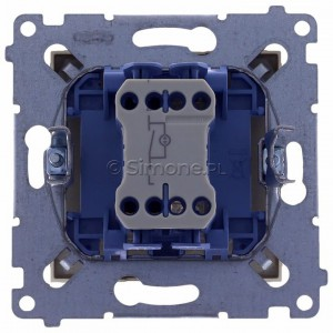 Simon 54 DW1L.01/44 - Łącznik pojedynczy z podświetleniem typu LED w kolorze niebieskim 10A - Złoty Mat - Podgląd zdjęcia 360st. nr 9