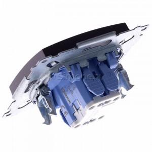Simon 54 DW1L.01/46 - Łącznik pojedynczy z podświetleniem typu LED w kolorze niebieskim 10A - Brąz Mat - Podgląd zdjęcia 360st. nr 5