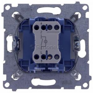 Simon 54 DW1L.01/46 - Łącznik pojedynczy z podświetleniem typu LED w kolorze niebieskim 10A - Brąz Mat - Podgląd zdjęcia 360st. nr 9