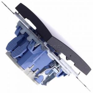 Simon 54 DW1L.01/48 - Łącznik pojedynczy z podświetleniem typu LED w kolorze niebieskim 10A - Antracyt - Podgląd zdjęcia 360st. nr 3