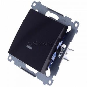 Simon 54 DW1L.01/48 - Łącznik pojedynczy z podświetleniem typu LED w kolorze niebieskim 10A - Antracyt - Podgląd zdjęcia 360st. nr 7