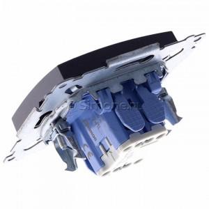 Simon 54 DW1L.01/48 - Łącznik pojedynczy z podświetleniem typu LED w kolorze niebieskim 10A - Antracyt - Podgląd zdjęcia 360st. nr 5