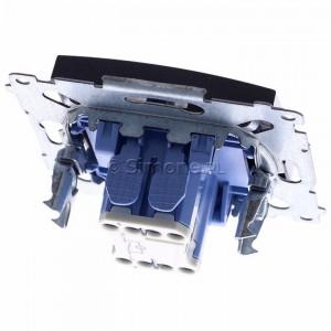 Simon 54 DW1L.01/48 - Łącznik pojedynczy z podświetleniem typu LED w kolorze niebieskim 10A - Antracyt - Podgląd zdjęcia 360st. nr 4
