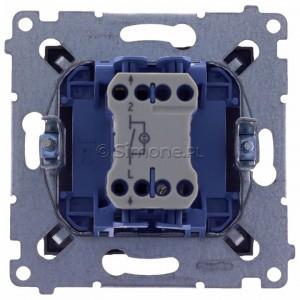Simon 54 DW1L.01/48 - Łącznik pojedynczy z podświetleniem typu LED w kolorze niebieskim 10A - Antracyt - Podgląd zdjęcia 360st. nr 9