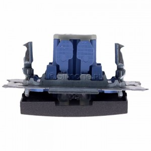 Simon 54 DW1L.01/48 - Łącznik pojedynczy z podświetleniem typu LED w kolorze niebieskim 10A - Antracyt - Podgląd zdjęcia 360st. nr 8