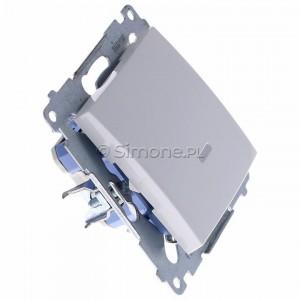 Simon 54 DW1ZL.01/11 - Łącznik pojedynczy z sygnalizacją załączenia typu LED w kolorze niebieskim - Biały - Podgląd zdjęcia 360st. nr 2