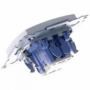 Simon 54 DW1ZL.01/11 - Łącznik pojedynczy z sygnalizacją załączenia typu LED w kolorze niebieskim - Biały - Podgląd zdjęcia 360st. nr 5