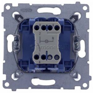 Simon 54 DW1ZL.01/43 - Łącznik pojedynczy z sygnalizacją załączenia typu LED w kolorze niebieskim - Srebrny Mat - Podgląd zdjęcia 360st. nr 9