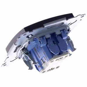 Simon 54 DW1ZL.01/48 - Łącznik pojedynczy z sygnalizacją załączenia typu LED w kolorze niebieskim - Antracyt - Podgląd zdjęcia 360st. nr 5