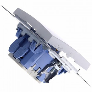 Simon 54 DW2L.01/11 - Łącznik dwubiegunowy z podświetleniem typu LED w kolorze niebieskim - Biały - Podgląd zdjęcia 360st. nr 3
