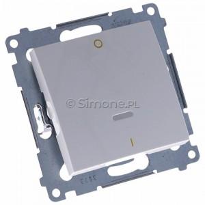 Simon 54 DW2L.01/11 - Łącznik dwubiegunowy z podświetleniem typu LED w kolorze niebieskim - Biały - Podgląd zdjęcia 360st. nr 1