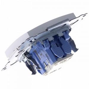 Simon 54 DW2L.01/11 - Łącznik dwubiegunowy z podświetleniem typu LED w kolorze niebieskim - Biały - Podgląd zdjęcia 360st. nr 5