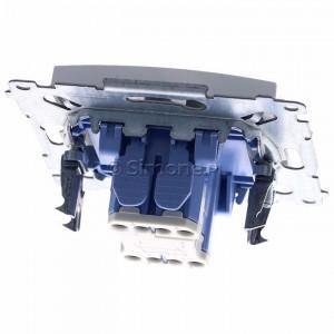 Simon 54 DW2L.01/11 - Łącznik dwubiegunowy z podświetleniem typu LED w kolorze niebieskim - Biały - Podgląd zdjęcia 360st. nr 4