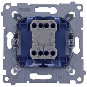 Simon 54 DW2L.01/11 - Łącznik dwubiegunowy z podświetleniem typu LED w kolorze niebieskim - Biały - Podgląd zdjęcia 360st. nr 9
