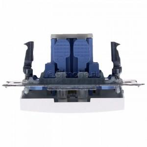Simon 54 DW2L.01/11 - Łącznik dwubiegunowy z podświetleniem typu LED w kolorze niebieskim - Biały - Podgląd zdjęcia 360st. nr 8