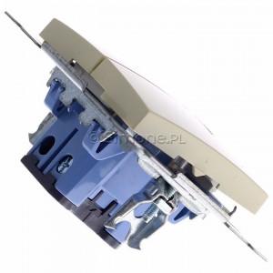Simon 54 DW5ABL.01/41 - Łącznik podwójny do wersji IP44 z podświetleniem typu LED w kolorze niebieskim 16A - Kremowy - Podgląd zdjęcia 360st. nr 3