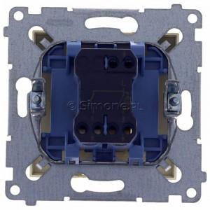 Simon 54 DW5ABL.01/41 - Łącznik podwójny do wersji IP44 z podświetleniem typu LED w kolorze niebieskim 16A - Kremowy - Podgląd zdjęcia 360st. nr 9