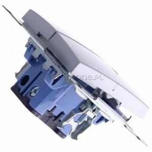 Simon 54 DW5ABL.01/43 - Łącznik podwójny do wersji IP44 z podświetleniem typu LED w kolorze niebieskim 16A - Srebrny Mat - Podgląd zdjęcia 360st. nr 3