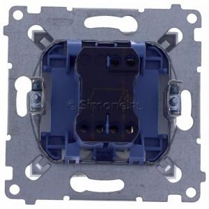 Simon 54 DW5ABL.01/43 - Łącznik podwójny do wersji IP44 z podświetleniem typu LED w kolorze niebieskim 16A - Srebrny Mat - Podgląd zdjęcia 360st. nr 9