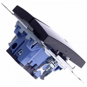 Simon 54 DW5ABL.01/48 - Łącznik podwójny do wersji IP44 z podświetleniem typu LED w kolorze niebieskim 16A - Antracyt - Podgląd zdjęcia 360st. nr 3