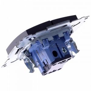 Simon 54 DW5ABL.01/48 - Łącznik podwójny do wersji IP44 z podświetleniem typu LED w kolorze niebieskim 16A - Antracyt - Podgląd zdjęcia 360st. nr 5
