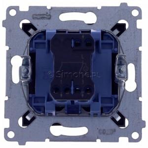 Simon 54 DW5ABL.01/48 - Łącznik podwójny do wersji IP44 z podświetleniem typu LED w kolorze niebieskim 16A - Antracyt - Podgląd zdjęcia 360st. nr 9