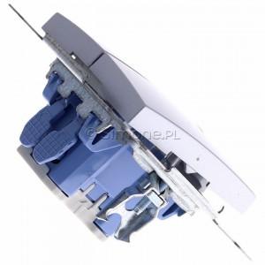 Simon 54 DW5BL.01/43 - Łącznik podwójny do wersji IP44 z podświetleniem typu LED w kolorze niebieskim 10A - Srebrny Mat - Podgląd zdjęcia 360st. nr 3