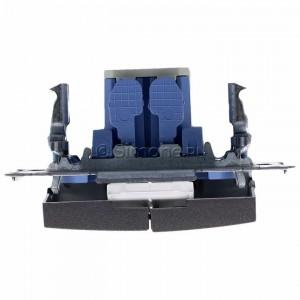 Simon 54 DW5BL.01/48 - Łącznik podwójny do wersji IP44 z podświetleniem typu LED w kolorze niebieskim 10A - Antracyt - Podgląd zdjęcia 360st. nr 8
