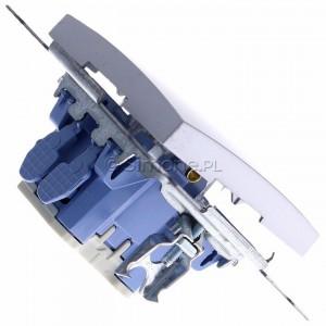 Simon 54 DW6.01/43 - Łącznik schodowy 10A - Srebrny Mat - Podgląd zdjęcia 360st. nr 3