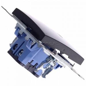 Simon 54 DW6AL.01/48 - Łącznik schodowy z podświetleniem typu LED w kolorze niebieskim 16A - Antracyt - Podgląd zdjęcia 360st. nr 3