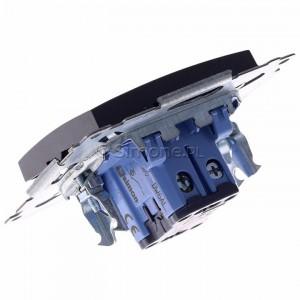 Simon 54 DW6AL.01/48 - Łącznik schodowy z podświetleniem typu LED w kolorze niebieskim 16A - Antracyt - Podgląd zdjęcia 360st. nr 5