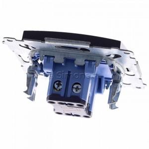 Simon 54 DW6AL.01/48 - Łącznik schodowy z podświetleniem typu LED w kolorze niebieskim 16A - Antracyt - Podgląd zdjęcia 360st. nr 4