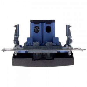 Simon 54 DW6AL.01/48 - Łącznik schodowy z podświetleniem typu LED w kolorze niebieskim 16A - Antracyt - Podgląd zdjęcia 360st. nr 8