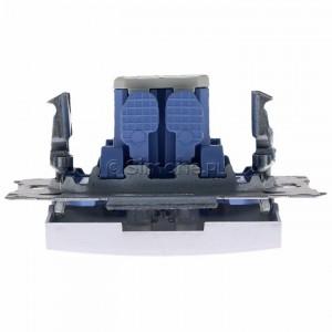 Simon 54 DW6L.01/43 - Łącznik schodowy z podświetleniem typu LED w kolorze niebieskim 10A - Srebrny Mat - Podgląd zdjęcia 360st. nr 8