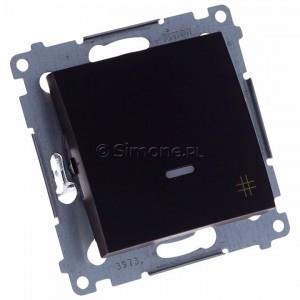 Simon 54 DW7L.01/46 - Łącznik krzyżowy z podświetleniem typu LED w kolorze niebieskim - Brąz Mat - Podgląd zdjęcia 360st. nr 1