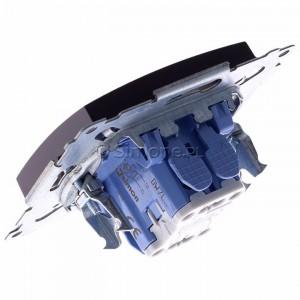 Simon 54 DW7L.01/46 - Łącznik krzyżowy z podświetleniem typu LED w kolorze niebieskim - Brąz Mat - Podgląd zdjęcia 360st. nr 5