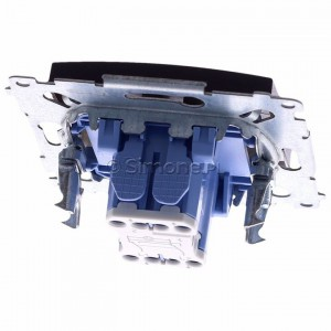 Simon 54 DW7L.01/46 - Łącznik krzyżowy z podświetleniem typu LED w kolorze niebieskim - Brąz Mat - Podgląd zdjęcia 360st. nr 4