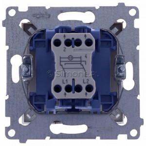 Simon 54 DW7L.01/46 - Łącznik krzyżowy z podświetleniem typu LED w kolorze niebieskim - Brąz Mat - Podgląd zdjęcia 360st. nr 9