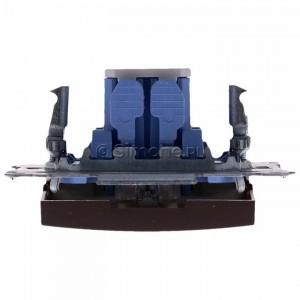 Simon 54 DW7L.01/46 - Łącznik krzyżowy z podświetleniem typu LED w kolorze niebieskim - Brąz Mat - Podgląd zdjęcia 360st. nr 8