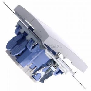Simon 54 DZP1.01/11 - Przycisk żaluzjowy, impulsowy 10A - Biały - Podgląd zdjęcia 360st. nr 3