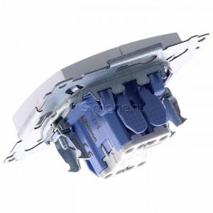 Simon 54 DZP1.01/11 - Przycisk żaluzjowy, impulsowy 10A - Biały - Podgląd zdjęcia 360st. nr 5