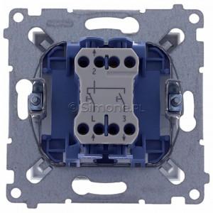 Simon 54 DZP1.01/11 - Przycisk żaluzjowy, impulsowy 10A - Biały - Podgląd zdjęcia 360st. nr 9