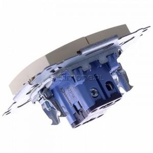 Simon 54 DZP1A.01/41 - Przycisk żaluzjowy, impulsowy 16A - Kremowy - Podgląd zdjęcia 360st. nr 5