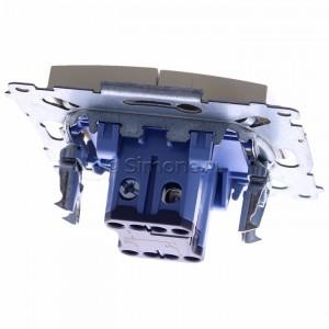 Simon 54 DZP1A.01/41 - Przycisk żaluzjowy, impulsowy 16A - Kremowy - Podgląd zdjęcia 360st. nr 4