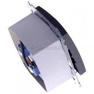 Simon 54 DZP1W.01/48 - Przycisk żaluzjowy do sterowania jedną roletą z wielu miejsc, impulsowy - Antracyt - Podgląd zdjęcia 360st. nr 3