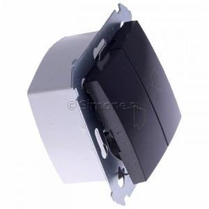 Simon 54 DZP1W.01/48 - Przycisk żaluzjowy do sterowania jedną roletą z wielu miejsc, impulsowy - Antracyt - Podgląd zdjęcia 360st. nr 2