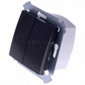 Simon 54 DZP1W.01/48 - Przycisk żaluzjowy do sterowania jedną roletą z wielu miejsc, impulsowy - Antracyt - Podgląd zdjęcia 360st. nr 7